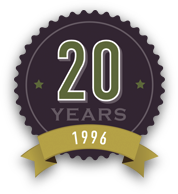 20 year history badge